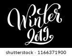 hello winter 2019 poster with... | Shutterstock .eps vector #1166371900