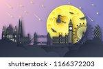 illustration of london city on... | Shutterstock .eps vector #1166372203