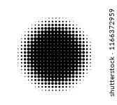 halftone circles  dots pattern  ... | Shutterstock .eps vector #1166372959