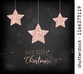 elegant merry christmas card... | Shutterstock .eps vector #1166375119