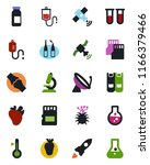 color and black flat icon set   ... | Shutterstock .eps vector #1166379466