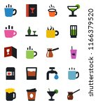 color and black flat icon set   ... | Shutterstock .eps vector #1166379520