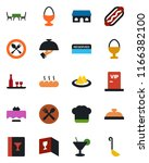 color and black flat icon set   ... | Shutterstock .eps vector #1166382100