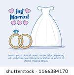 just married design | Shutterstock .eps vector #1166384170