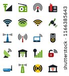 color and black flat icon set   ... | Shutterstock .eps vector #1166385643