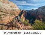 zion national park  utah usa 6... | Shutterstock . vector #1166388370