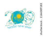 happy new 2019 year with flag... | Shutterstock .eps vector #1166389183