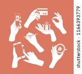 women set of hands. hands... | Shutterstock .eps vector #1166393779