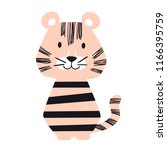 tiger baby cute print set.... | Shutterstock .eps vector #1166395759