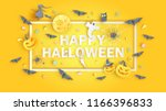 happy halloween calligraphy... | Shutterstock .eps vector #1166396833