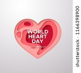 world heart day background.... | Shutterstock .eps vector #1166398900