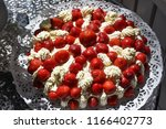 beautiful summer cake with... | Shutterstock . vector #1166402773