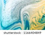 blue and yellow liquid marble... | Shutterstock . vector #1166404849