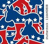 Democrat sticker scatter American election card/poster in vector format. - stock vector