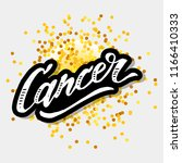 cancer lettering calligraphy... | Shutterstock .eps vector #1166410333