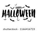 happy halloween calligraphy... | Shutterstock .eps vector #1166416723