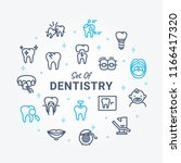 dentistry vector icon set a01 | Shutterstock .eps vector #1166417320