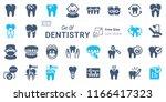 dentistry vector icon set b03 | Shutterstock .eps vector #1166417323