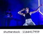 Small photo of PANENSKY TYNEC, CZECH REPUBLIC - JUNE 28, 2018: Singer Karen Marie Aagaard Orsted Andersen alias MO during performance at Aerodrome festival in Panensky Tynec, Czech Republic, June 28, 2018.