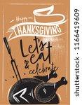 turkey for thanksgiving....   Shutterstock .eps vector #1166419609