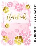 modern calligraphy of notebook... | Shutterstock .eps vector #1166419669