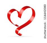 Red Satin Glossy Ribbon Heart...