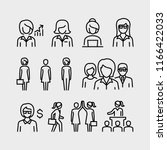 business woman vector line icons | Shutterstock .eps vector #1166422033
