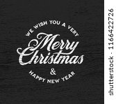 merry christmas and happy new... | Shutterstock .eps vector #1166422726