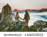 couple adventurers hands...   Shutterstock . vector #1166423023