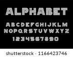 white of font and alphabet.... | Shutterstock .eps vector #1166423746