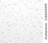 realistic vector water rain... | Shutterstock .eps vector #1166425459