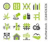 bamboo icon set | Shutterstock .eps vector #1166426326