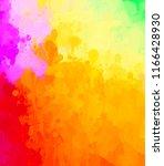 multicolored splash watercolor... | Shutterstock . vector #1166428930