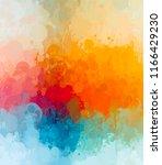 multicolored splash watercolor... | Shutterstock . vector #1166429230