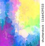 multicolored splash watercolor... | Shutterstock . vector #1166429533