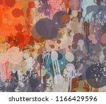 multicolored splash watercolor... | Shutterstock . vector #1166429596