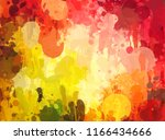 abstract colorful digital... | Shutterstock . vector #1166434666