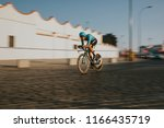 Small photo of MALAGA, SPAIN - August 25th, 2018: Omar Fraile, from Astana Cycling Team, during first stage of La Vuelta 2018 in the city of Malaga, Spain.