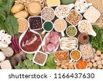 food rich in iron | Shutterstock . vector #1166437630