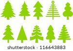 christmas trees | Shutterstock .eps vector #116643883