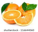 orange fruit isolated on white... | Shutterstock . vector #116644060