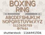 font script typeface vector... | Shutterstock .eps vector #1166441506