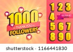 set of numbers for thanks... | Shutterstock .eps vector #1166441830