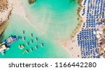 nissi beach in ayia napa  clean ... | Shutterstock . vector #1166442280