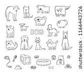 set of different dog breeds.... | Shutterstock . vector #1166443726