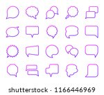 speech bubble thin line icons... | Shutterstock .eps vector #1166446969