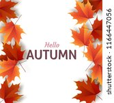 autumn leaves. bright colourful ... | Shutterstock .eps vector #1166447056
