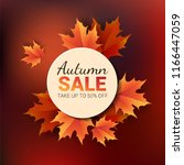 autumn leaves. bright colourful ... | Shutterstock .eps vector #1166447059