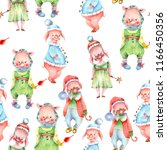 watercolor seamless pattern of... | Shutterstock . vector #1166450356