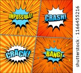 comic book pages orange bright... | Shutterstock .eps vector #1166455216